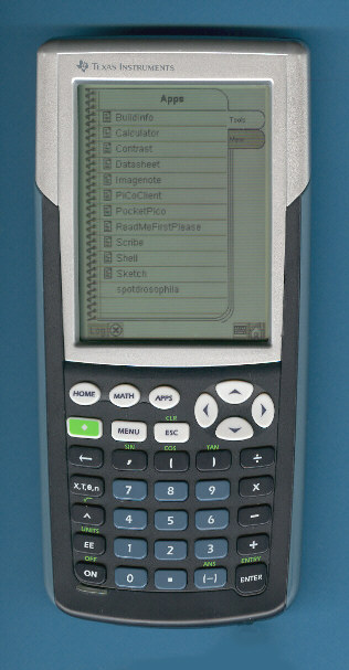 TI calc touch screen