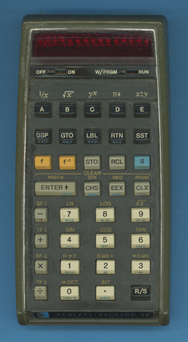 Vintage hp-12c financial calculators from the 1980s are.