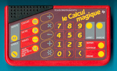 the le calcul magique is featured in the texas instruments france sa leaflet magiques et intelligents dated 1991